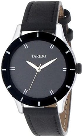 Tarido Styles Black Round Dial Analog Wrist Watch for Women/Girls