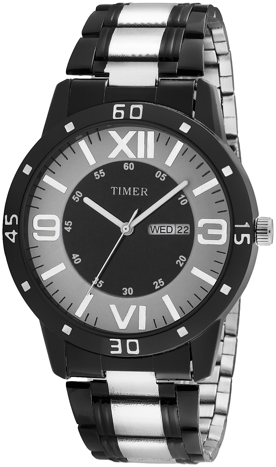 TC BP 004 TIMER DAY AND DATE STAINLESS STEEL ANALOG WATCH   NEW RANGE FOR ALL GENERATIONS Analog Watch   For Men