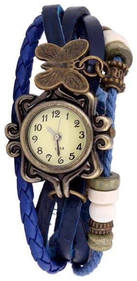 The Shopoholic Analog Blue Plastic Belt Watch For Girls-Stylish