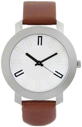 The Shopoholic Analog Brown Leather Belt Plain Watch For Men Formal