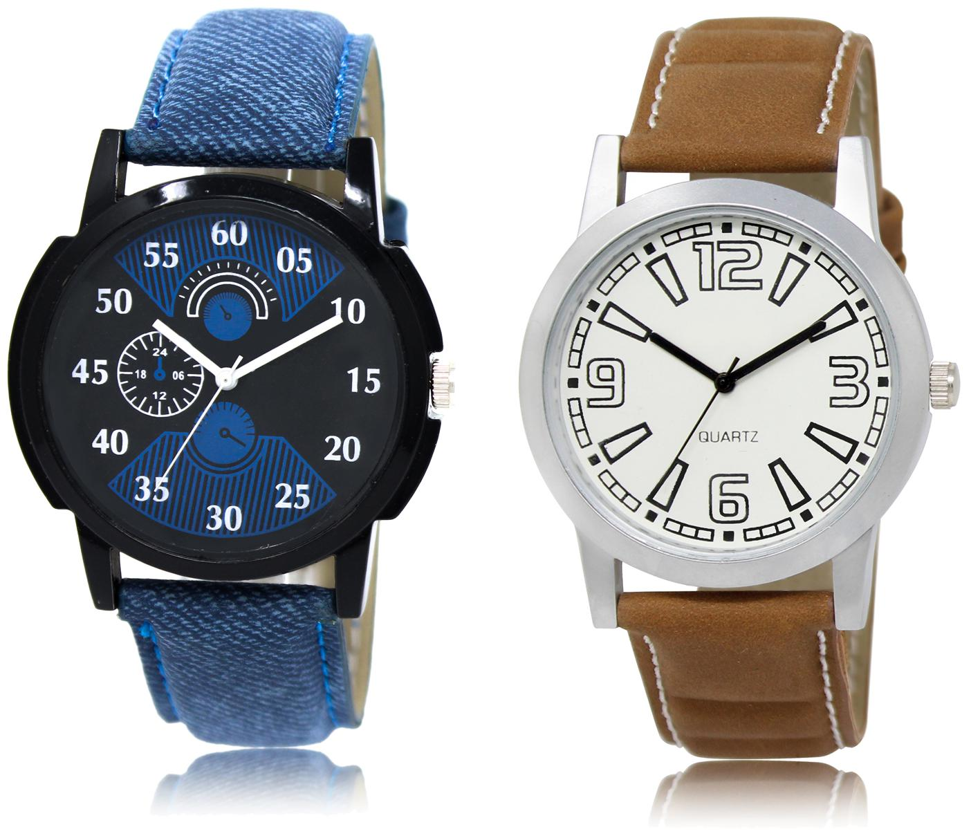 42383ce36e The Shopoholic Black Blue White Combo Fashionable Fancy Collection Black  And Blue And White Dial Analog