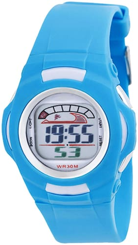 TIME UP Digital Display Alarm Function Sports Watch For Kids-MR-8522-SKY BLUE