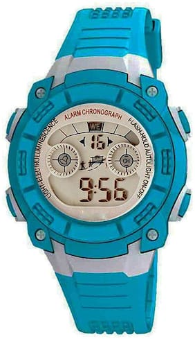 TIME UP Digital Display Alarm Function Sports Watch For Kids-MR-8017-SKY BLUE