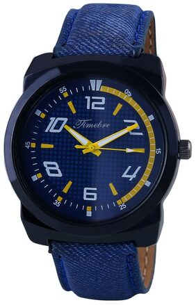 Timebre Men Denim Blue Casual Analog Watch