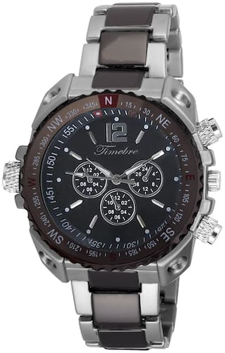 Timebre Men Imperial Black Steel Analog Watch