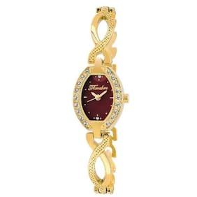 Timebre Women Daimond Luxurious Golden Analog Watch