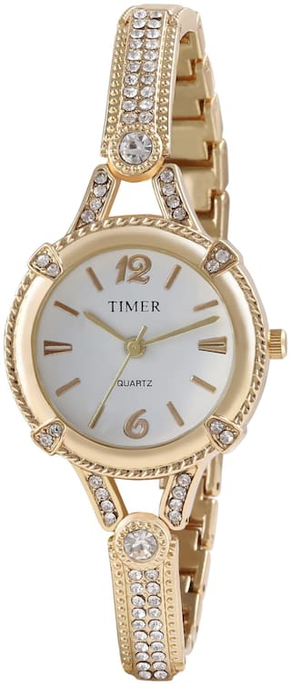 Timer Golden Analog Watch