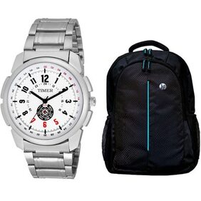 Timer stylish Combo  of Watch and Hp laptop bag TCTM-018-HP-52