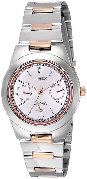Timex Analog Silver Dial Women's Watch - TW000J109