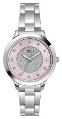 Timex Analog Pink Dial Women's Watch-TW000T613