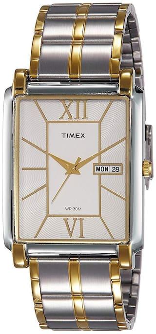 Timex Analog Silver Dial Men's Watch-TW000W908