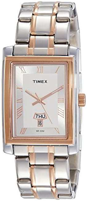 Timex Analog Silver Dial Men's Watch-TW000G720