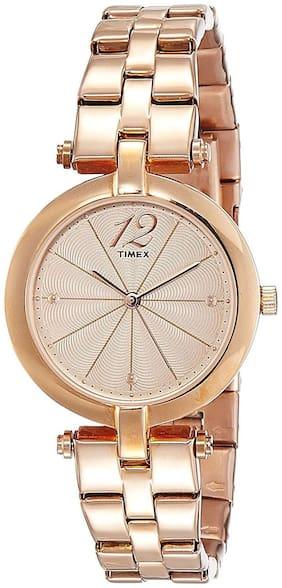 Timex Analog Light Brown Dial Women's Watch-TW000Z206