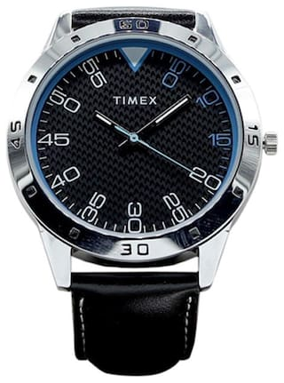 Timex Black Dial Analogue men's watch-TW000CP23