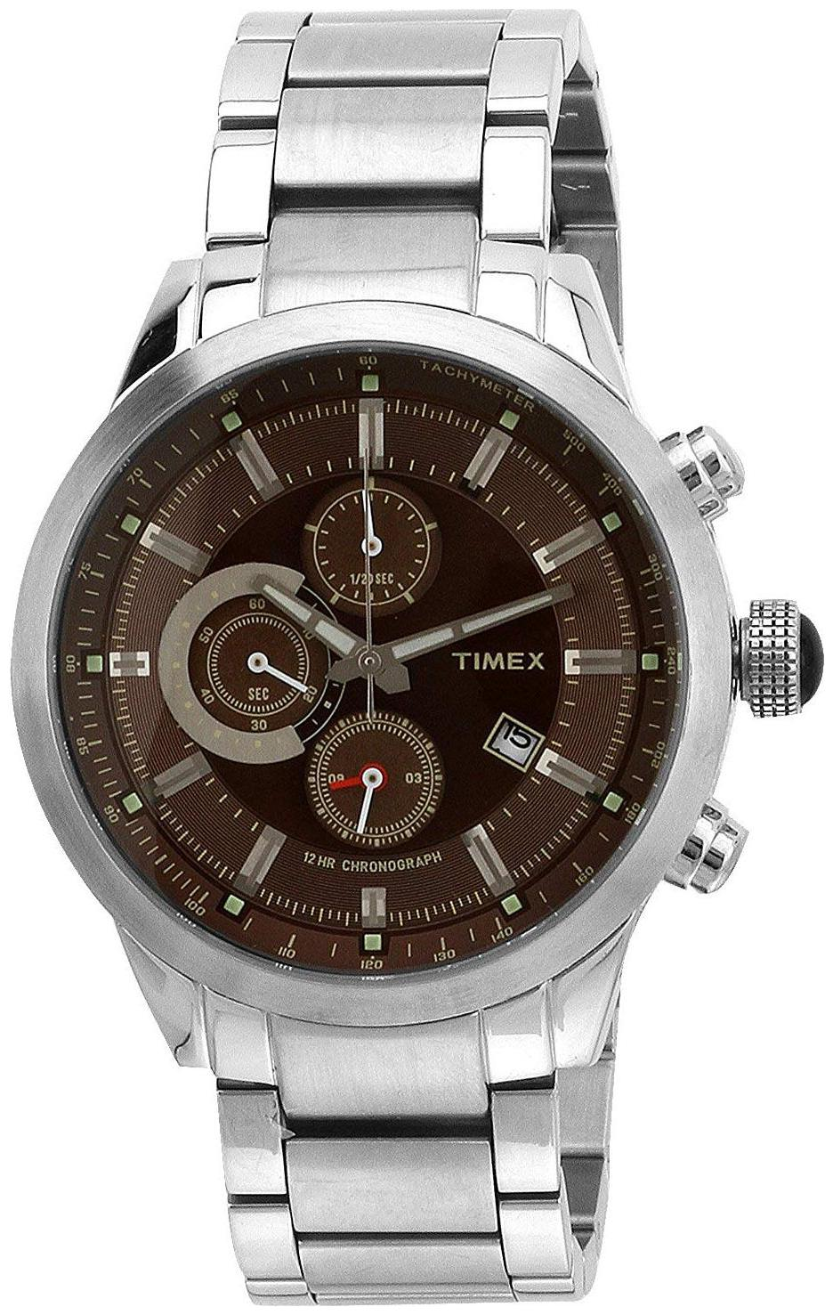 Timex E Class Analog Brown Dial Men Watch TW000Y401