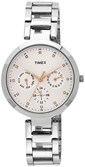 Timex E-Class Analog Silver Dial Women's Watch - TW000X204