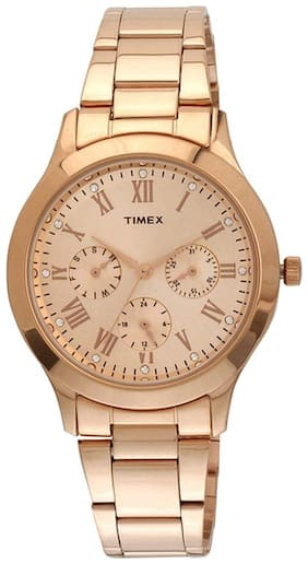 Timex Gold Analog Watch-TW000Q810-TW000Q810