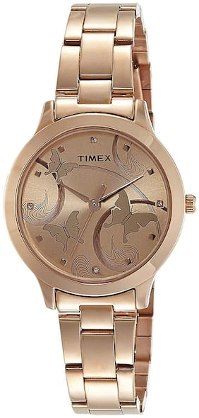 TIMEX Golden Analog Watch-TW000T610-TW000T610