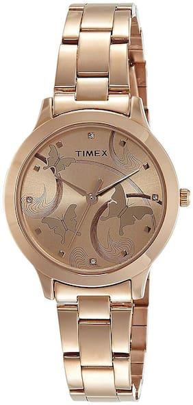 TIMEX Golden Analog Watch-TW000T610-TW000T610