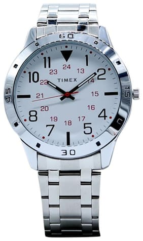 Timex Silver Dial Analogue men's watch-TW000CP22