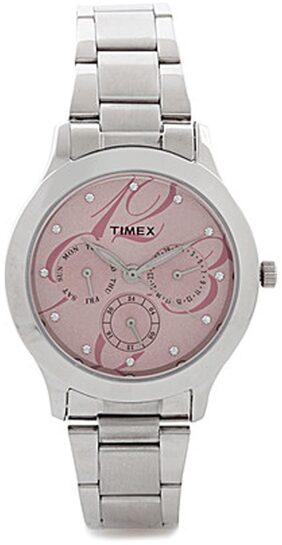 Timex TI000Q80100 Silver Round Chronograph Watch
