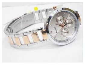 TIMEX Trendy Multi Function Steel-Copper Plated Chain Watch for Womens TW000X214