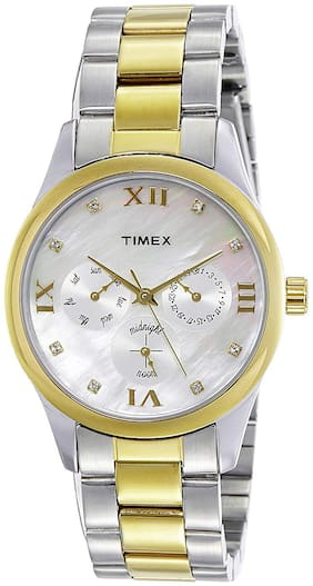 TIMEX-Trendy-Broad-Gold-Steel-Multi-Dials-Watch-TW000W204