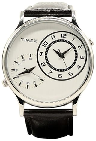Timex White Dial Analogue men's watch-TW000CP02