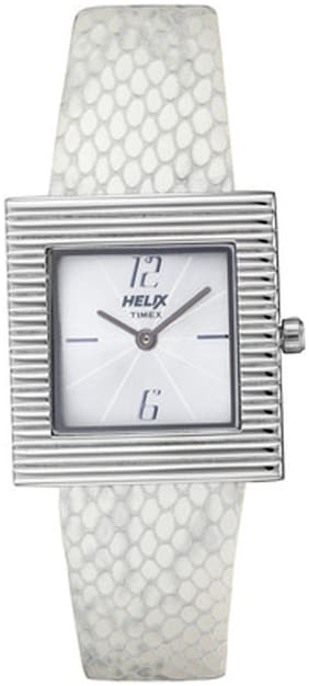 Timex White Square Analog Watch-11HL02-11HL02