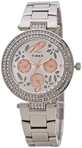 Timex Women Silver Analog Watch - TWEL12001