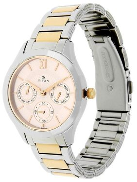 Titan 2570KM01 Stainless Steel Strap Watch for Women