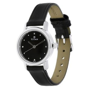 Titan 2572SL01 Black Strap Black Dial Watch