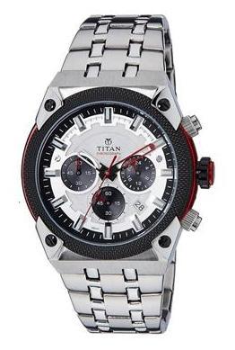 Titan  90030Km03 Men Chronograph Watch