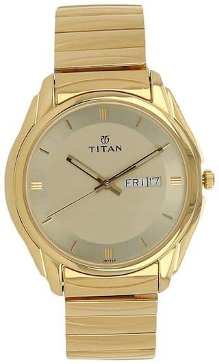 Titan NK1578YM05 Men Yellow - Analog Watch