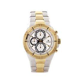 Titan  9308Bm01 Men Chronograph Watch