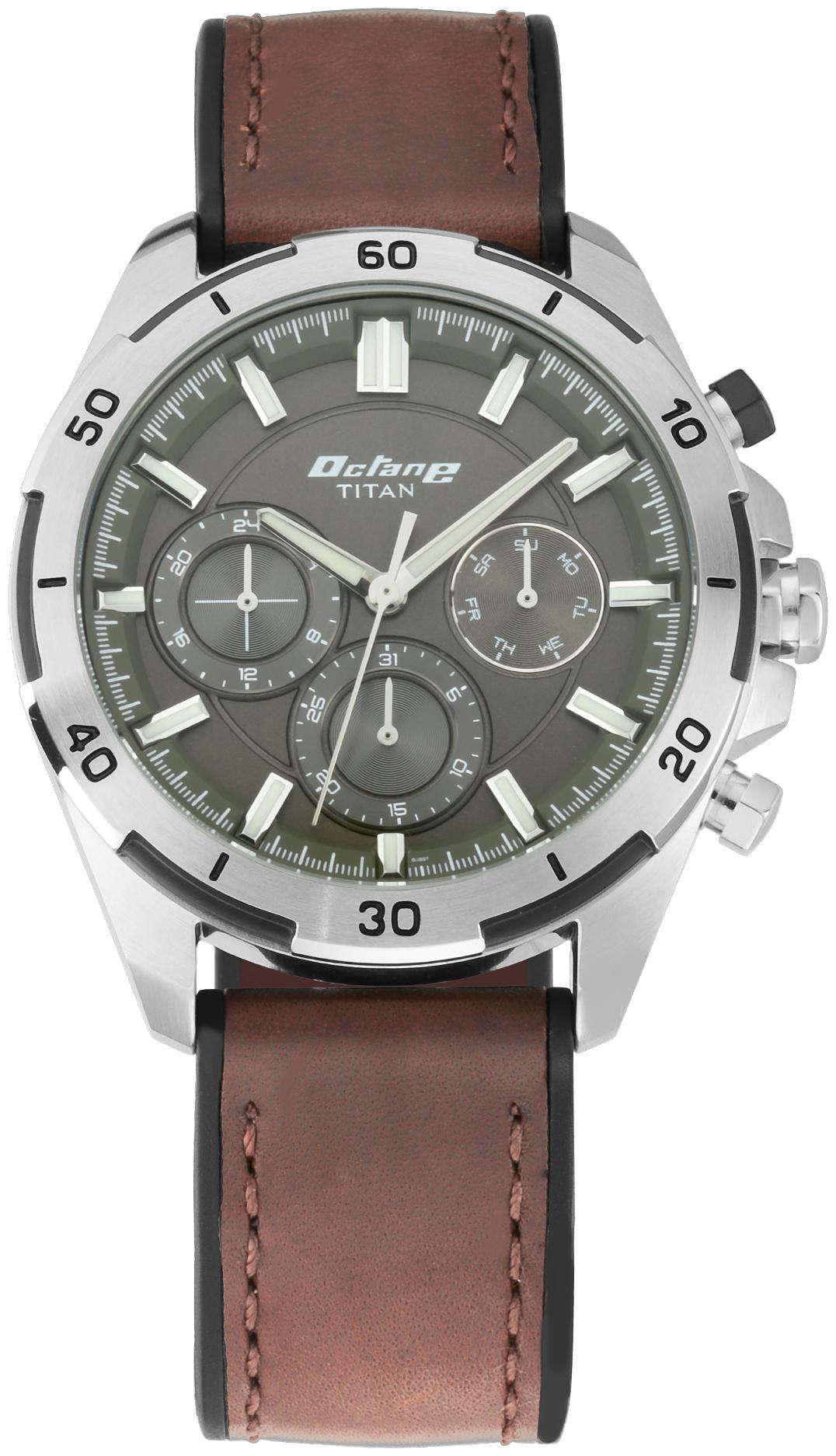 Titan Octane Hyper Lume 90114KP01 Analog Watch For Men by Titan Company