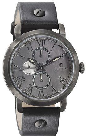 Titan Purple Chronograph Wrist Watch For Men 90049Ql02