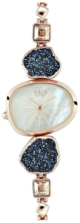 Titan Raga I Am Mother of Pearl Dial Analog Watch for Women