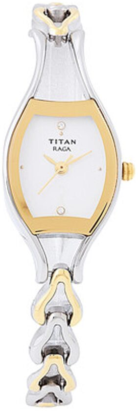 Titan Raga Karishma Women's Oval Gold;Silver Analog Wrist Watch-2331BM01