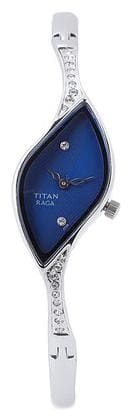 Titan Raga Women's Oval Silver Analog Wrist Watch-9710SM01