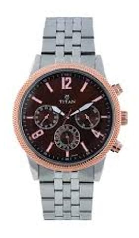 titan Silver metal Men Chronograph Watches