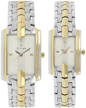 Unisex White Couple Watch