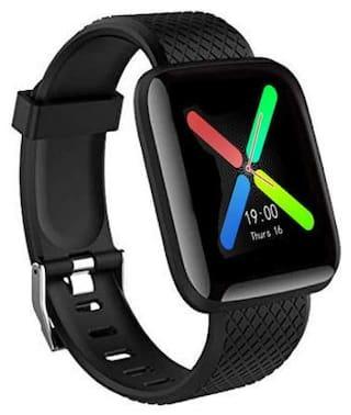 CHG d13 Unisex 30 mm Black Smart Watch