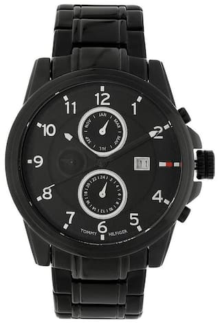 66ac1c76955ecd Buy Tommy Hilfiger TH1790961 Black Round Chronograph Watch-TH1790961 ...