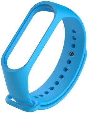TOTU Smart Fitness Sport Watch Band Replacement Silicone Sports Soft Wrist Strap Bracelet Wristband for XIAOMI Mi Band 3 Straps Bracelets for Mi3 {Not for Mi1/2} Blue