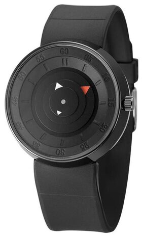 Triangle Pointer Silicone Students Sport Watch(Black)