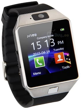 TSV DZ09 Watch Bluetooth Smart Wrist Watch Phone Compatible With Apple iPhone 8(Black & Silver)