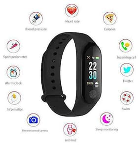 Tsv  M3 Compatible Fitness Tracker OLED Screen Display Smart Wristband with Heart Rate Monitor  Sleep Tracker  Pedometer