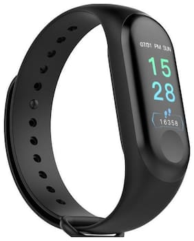 TSV M3 Smart Activity Fitness Tracker Notifier For Sedentary  Call And SMS  Never Miss Out Important Issues Black