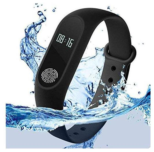 TSV M3 Smart Activity Fitness Tracker Band Alarm Clock Incoming Call Feature...
